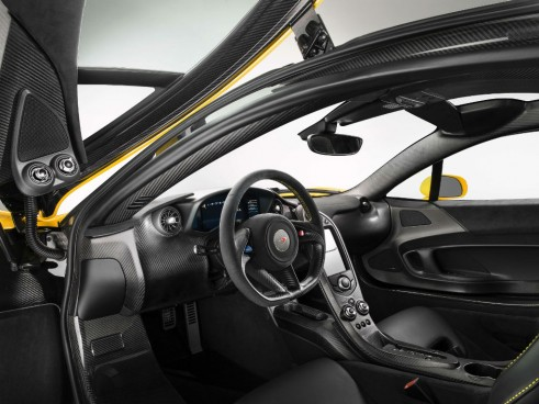 McLaren P1 Yellow Interior