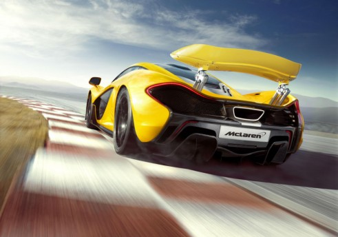 McLaren P1 Yellow Rear