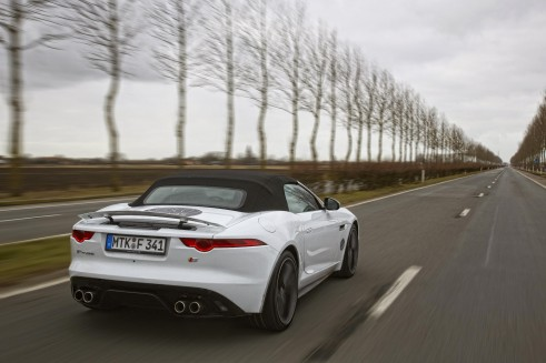 Jaguar F Type White Rear