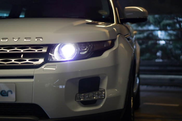 Range Rover Evoque Coupe Headlight 700x465 - The history of headlights - The history of headlights