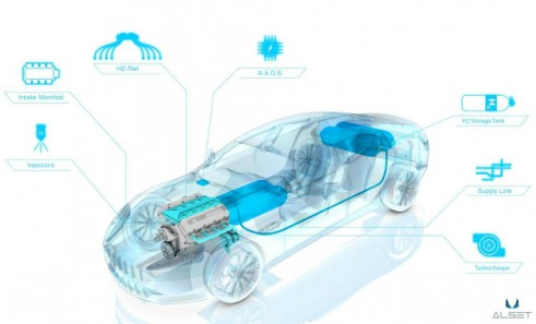 Aston Martin Rapid Hydrogen Cut Away