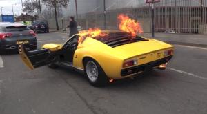 Lamborghini Liura SV On Fire 300x165 - Lamborghini Miura SV burns in London - Lamborghini Miura SV burns in London