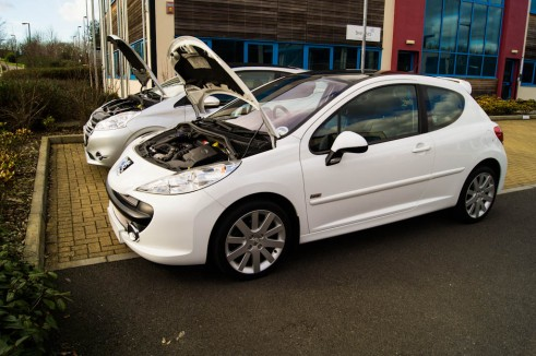 Peugeot 207 Vs Peugeot 208 Bonnets Up