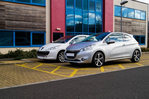 Peugeot 207 Vs Peugeot 208 Side By Side Front Angle