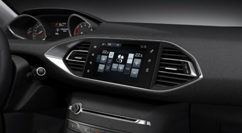 New Peugeot 208 Red Dash