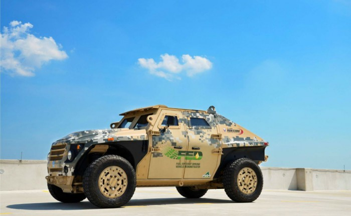 US Army Fuel Efficent Demonstrator Side 700x432 - US Army FED - Fuel-Efficient Demonstrator - US Army FED - Fuel-Efficient Demonstrator