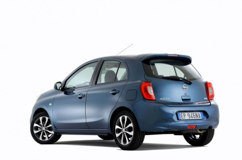 2013 Nissan Micra Facelift Rear Angle - carwitter