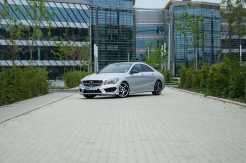 Merceds Benz CLA AMG Sport - Front Angle Far Away - carwitter.jpg