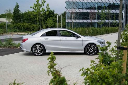 Merceds Benz CLA AMG Sport - Side Angle Close Up - carwitter.jpg