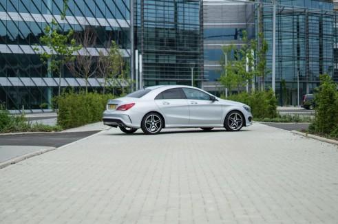 Merceds Benz CLA AMG Sport - Side Angle - carwitter.jpg
