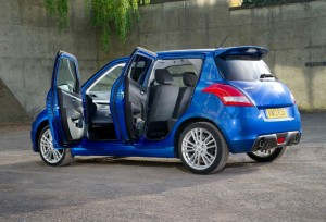 2013 Suzuki Swift Sport 5 Door Rear Angle carwitter 300x204 - Suzuki Swift 4x4 & Five door Swift Sport coming to the UK - Suzuki Swift 4x4 & Five door Swift Sport coming to the UK