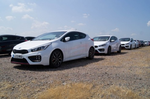 Kia Pro Ceed GT White Front Angle In The Flesh