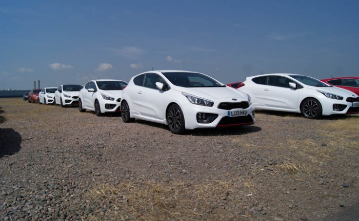 Lot of Kia Pro Ceed GT White In The Flesh