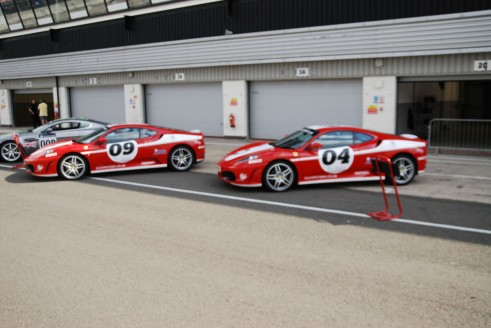 Silverstone Experience Ferrari F430 Line Up carwitter 491x328 - My Silverstone Driving Experience Review - Tom Taylor - My Silverstone Driving Experience Review - Tom Taylor