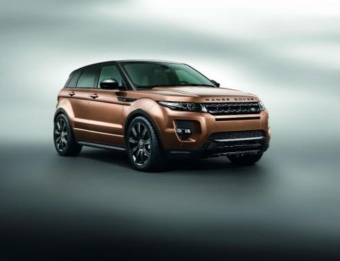 2014 Range Rover Evoque Zanzibar Bronze Front Angle - carwitter