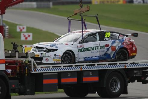 BTCC 2013 Jason Plato Crash Roll Snetterton - carwitter