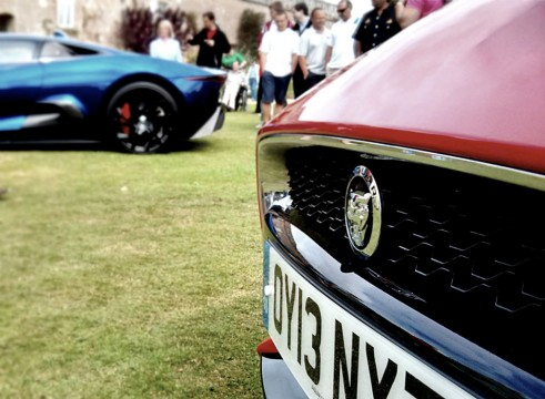 C-X75 Profile view+FType front view - Wilton House 2013 - Carwitter