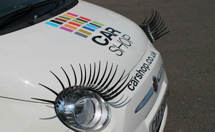 Car Headlight Eyelashes most hated car accessory carwitter 700x432 - Top Ten most hated car accessories! - Top Ten most hated car accessories!