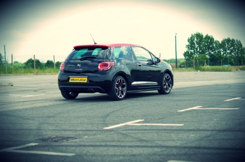 Citroen DS3 RED Review Rear Angle carwitter 491x326 - Citroen DS3 DSport RED Review – Head turner - Citroen DS3 DSport RED Review – Head turner
