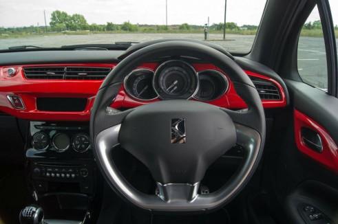 Citroen DS3 RED Review Steering Wheel carwitter 491x326 - Citroen DS3 DSport RED Review – Head turner - Citroen DS3 DSport RED Review – Head turner
