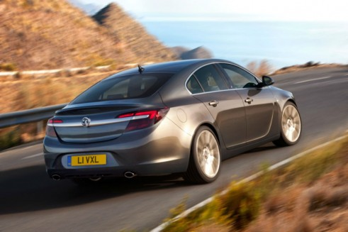 Facelift Vauxhall Insignia Rear Angle - carwitter