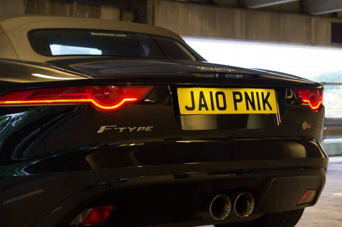 Jaguar F Type Jalopnik Number 1 Plate UK carwitter  700x465 - 4 Cool Car Customisations You Need - 4 Cool Car Customisations You Need