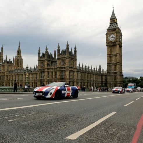 Jaguar F-Type London Big Ben #YourTurnBritain - carwitter