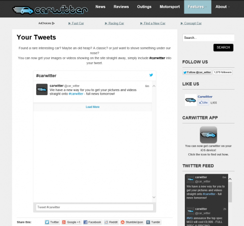 Your Tweets - carwitter
