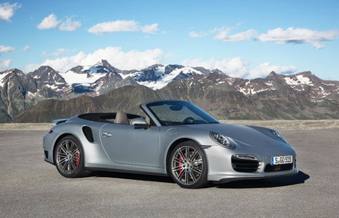 2014 Porchse 911 Turbo Cabriolet Side Front - carwitter