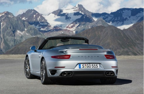 2014 Porchse 911 Turbo Cabriolet Side Rear - carwitter