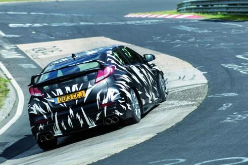 2015 Honda Civic Type R Testing Nurburgring Rear - carwitter