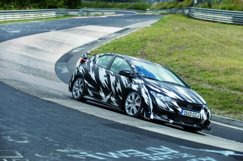2015 Honda Civic Type R Testing Nurburgring Side - carwitter