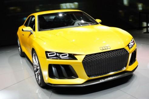 Audi Sport Quattro Concept Front Angle - Frankfurt Motor Show 2013 - carwitter