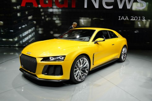 Audi Sport Quattro Concept Side Angle - Frankfurt Motor Show 2013 - carwitter