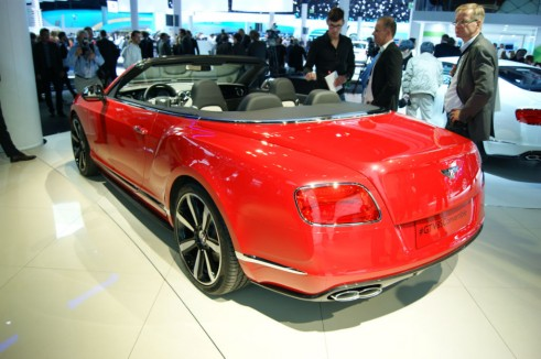 Bentley Continental GT V8 S convertible Rear - Frankfurt 2013 - carwitter