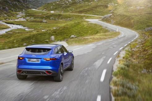 Jaguar C-X17 SUV Crossover Concept Rear Shot - carwitter