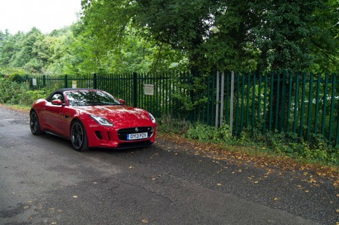 Jaguar F-Type V8S Review - Front Angle Dist - carwitter