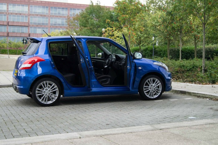 Suzuki Swift Sport 5 Door Review Doors Open carwitter 700x465 - Suzuki Swift Sport 5 Door Review - Practical fun - Suzuki Swift Sport 5 Door Review - Practical fun