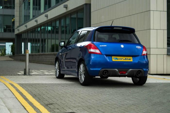 Suzuki Swift Sport 5 Door Review Rear Angle carwitter 700x465 - Suzuki Swift Sport 5 Door Review - Practical fun - Suzuki Swift Sport 5 Door Review - Practical fun