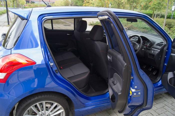 Suzuki Swift Sport 5 Door Review Rear Seat Access carwitter 700x465 - Suzuki Swift Sport 5 Door Review - Practical fun - Suzuki Swift Sport 5 Door Review - Practical fun