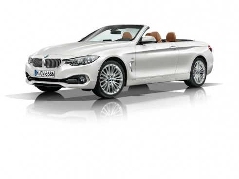 2014 BMW 4 Series Convertible Roof Down Front Angle - carwitter