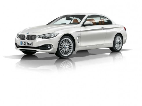 2014 BMW 4 Series Convertible Roof Up Front Angle - carwitter