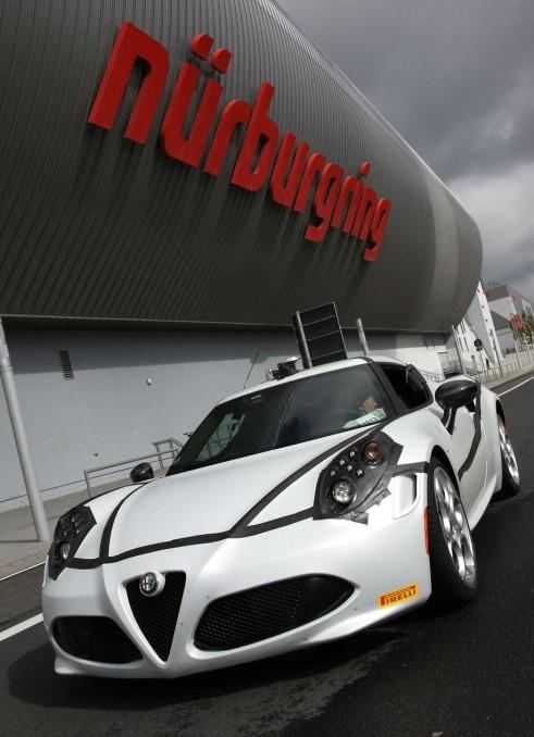 Alfa Romeo 4C Nurburgring Front Sign - carwitter