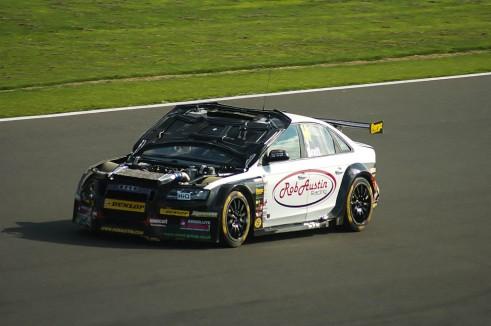 BTCC 2013 Silverstone - Will Bratt Audi Bonnet Up - carwitter