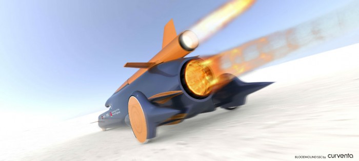 Bloodhound SSC Rear by Curventa - carwitter