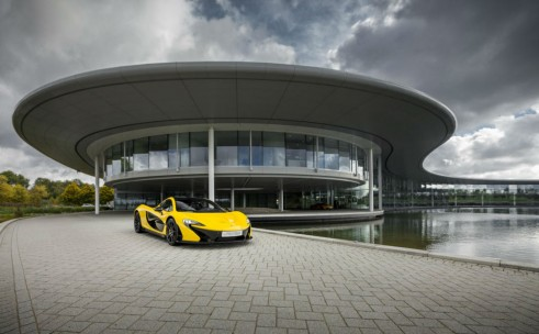 McLaren P1 Yellow Outside HQ - carwitter
