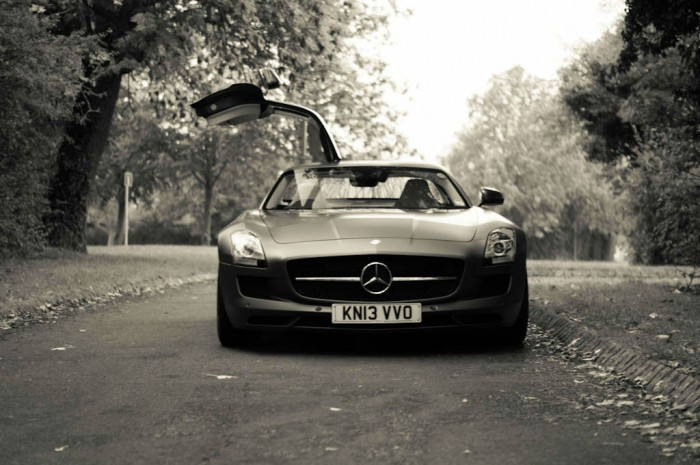 Mercedes Benz SLS AMG GT Monza Grey Review Front Door Up carwitter 700x465 - The Challenges Of Driving A Supercar - The Challenges Of Driving A Supercar