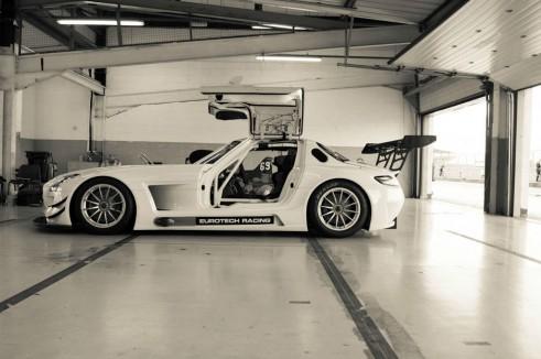 Mercedes SLS GT3 Eurotech - Side On - carwitter