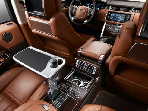 Range Rover Long Wheelbase Autobiography Black Rear Interior - carwitter