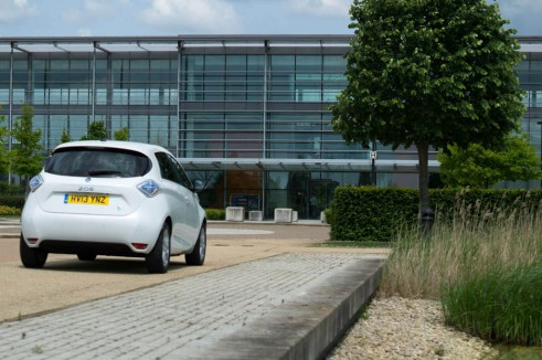 Renault ZOE Review - Rear Scenery - carwitter